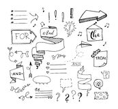 Vector hand drawn set on Stock Photography