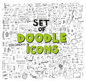 Vector hand drawn set on Royalty Free Stock Images