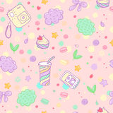 Vector hand drawn siamless pattern. Royalty Free Stock Image