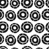 Vector hand drawn simple circles seamless pattern Stock Photography