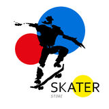 Vector hand drawn skateboarder sketch Royalty Free Stock Image