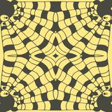 Vector Hand drawn sketch of abstract seamless pattern illustration on yellow background vector illustration