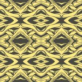 Vector Hand drawn sketch of abstract seamless pattern illustration on yellow background royalty free illustration