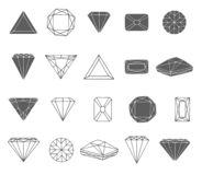 Vector Hand drawn sketch of diamond icon illustration on white background royalty free illustration
