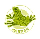 Vector Hand drawn sketch of frog illustration on white background royalty free illustration