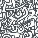 Vector Hand drawn sketch of graffiti illustration on white background stock illustration