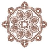 Vector Hand drawn sketch of mandala illustration on white background vector illustration