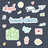 Vector hand drawn sketch set on chalk of planning. Vector hand drawn sketch set on chalk background of planning elements with white outline: arrow, banner, word Stock Photo