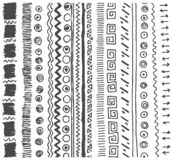 Vector Hand drawn sketch of simple pattern illustration on white background stock illustration