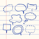 Vector hand drawn speech bubble set paper Royalty Free Stock Photos