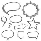 Vector hand drawn speech bubbles Royalty Free Stock Photography