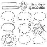 Vector hand drawn speech bubbles set Royalty Free Stock Photography