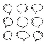 Vector hand drawn speech bubbles on white Royalty Free Stock Photos