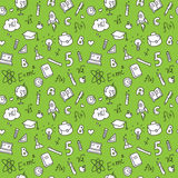 Vector hand drawn stationary seamless pattern Royalty Free Stock Image