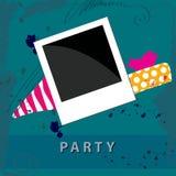 Photo frame on cute grunge background Royalty Free Stock Image