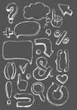Vector hand-drawn tekens Stock Fotografie