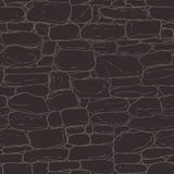 Vector hand-drawn texture of brick wall or sett (paving). Seamle Royalty Free Stock Photo