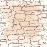 Vector hand-drawn texture of brick wall or sett (paving). Seamle Stock Photography