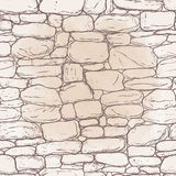 Vector hand-drawn texture of brick wall or sett (paving). Seamle Royalty Free Stock Image