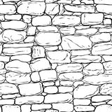Vector hand-drawn texture of brick wall or sett (paving). Seamle Stock Images