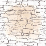 Vector hand-drawn texture of brick wall or sett (paving). Seamle Stock Photo