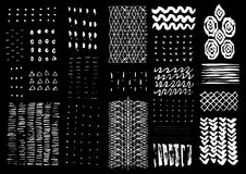Vector hand drawn textures. Royalty Free Stock Photos