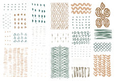 Vector hand drawn textures. Royalty Free Stock Images