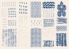 Vector hand drawn textures. Stock Images