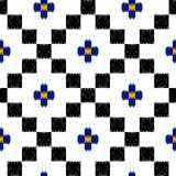 Vector hand drawn tribal, ethnic seamless pattern in mexican sty Royalty Free Stock Images