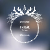 Vector hand drawn tribal frame Stock Image