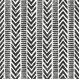 Vector hand drawn tribal pattern. Seamless Royalty Free Stock Images