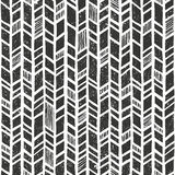 Vector hand drawn tribal pattern. Seamless primitive geometric background with grunge texture. Stock Images