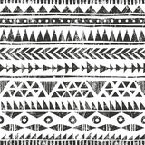 Vector hand drawn tribal print. Primitive Royalty Free Stock Photo