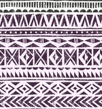 Vector hand drawn tribal print. Primitive geometric background in grunge style. Stock Photos