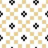 Vector hand drawn tribal seamless pattern in mexican ethnic styl Royalty Free Stock Image