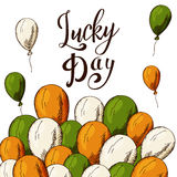 Vector hand drawn typographic design. St. Patrick`s Day greeting.  Stock Image