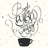 Vector hand drawn typography poster. Royalty Free Stock Images