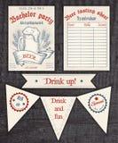 Vector hand drawn vintage invitation, tasting Stock Image