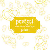 Vector hand drawn vintage seamless pattern with Royalty Free Stock Photography