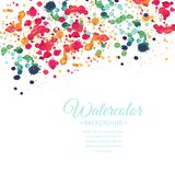 Vector hand drawn watercolor background Royalty Free Stock Image