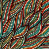 Vector Hand-drawn Waves Texture, Wavy Background. Backdrop Templ Stock Photo