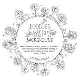 Doodles woodland background. Royalty Free Stock Photos