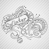 Vector hand drawn winter illustration Royalty Free Stock Photo