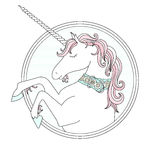 Vector hand drawn cute Unicorn Stock Photo