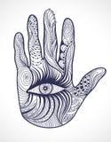 Vector hand with eye. Design Element. Vector hand with the eye. Design Element Royalty Free Illustration