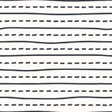 Vector hand-geïllustreerde naadloze textuur royalty-vrije stock afbeelding