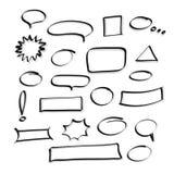 Vector Hand gezeichnete Rahmenblasensammlung für Element und Lizenzfreie Stockfotos