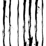 Vector Hand gezeichnetes nahtloses Schwarzweiss-Muster in der Schmutzart Stockfotografie