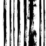Vector Hand gezeichnetes nahtloses Schwarzweiss-Muster in der Schmutzart Stockbild