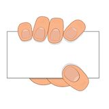 Vector hand hold paper Royalty Free Stock Photo